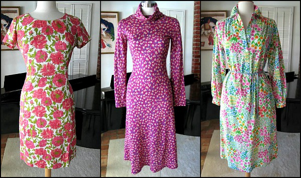 50s wiggle dress, Belle France 60s dress and Margaret Smith 60s