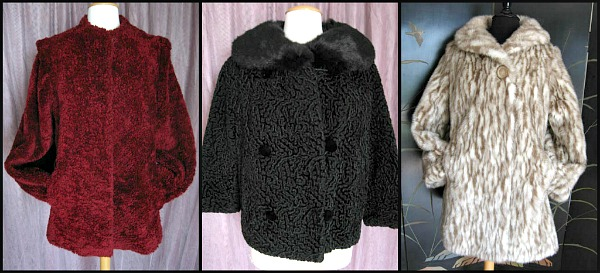 Carol Horn Captivity faux fur, Persian lamb and mink stroller jacket, 60s lynx car coat