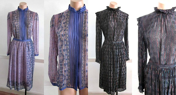 Sheer vintage 70s ensembles  L: Silk Farm by Icinoo  R: Galinda Wang