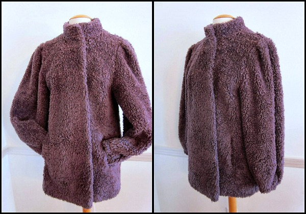 Carol Horn Captivity Mauve faux fun fur jacket