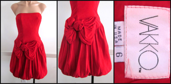 Vakko buttersoft suede bubble skirt dress, circa 1980s, of course!