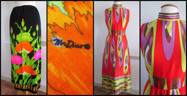 L: Mr. Dino 60s  jersey skirt R: Emilio Borghese 60s Maxi Dress